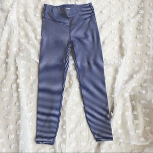 GAPFIT Blue and White Striped Yoga Pants